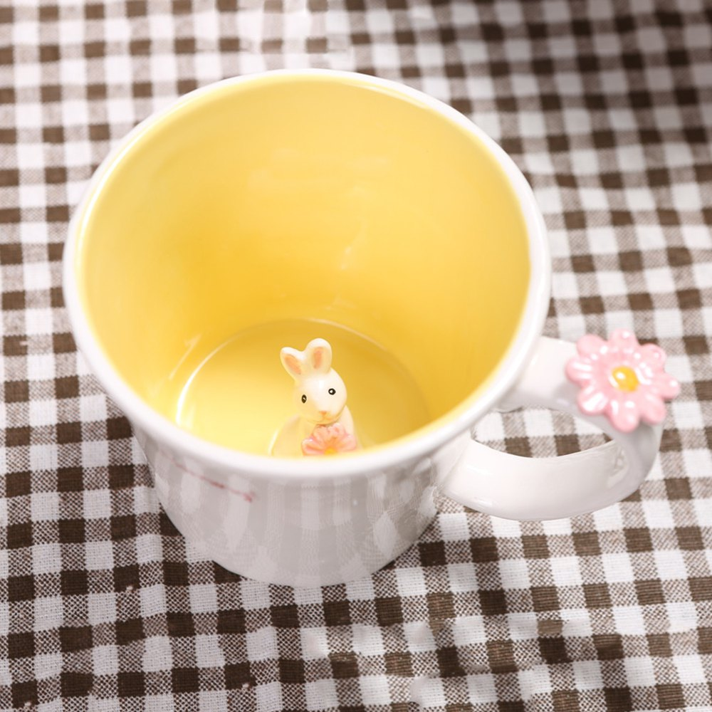 550ML Good Morning Rabbit Cup - YELLOW