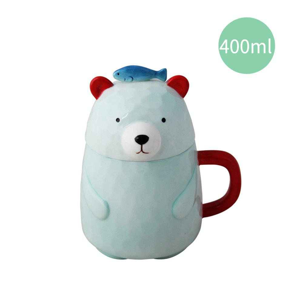 400ML Creative Ceramic Mug - BLUE