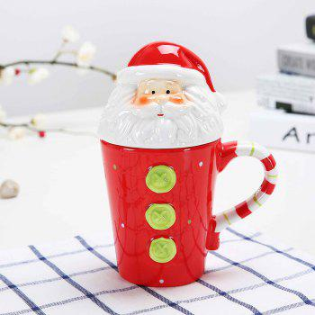 400ML Animal Cartoon Christmas Cup - RED RED
