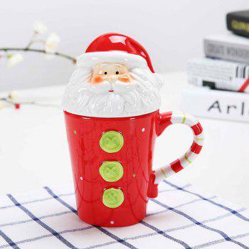 400ML Animal Cartoon Christmas Cup -  RED