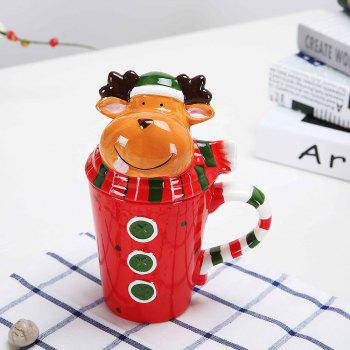 400ML Animal Cartoon Christmas Cup - FLORAL FLORAL