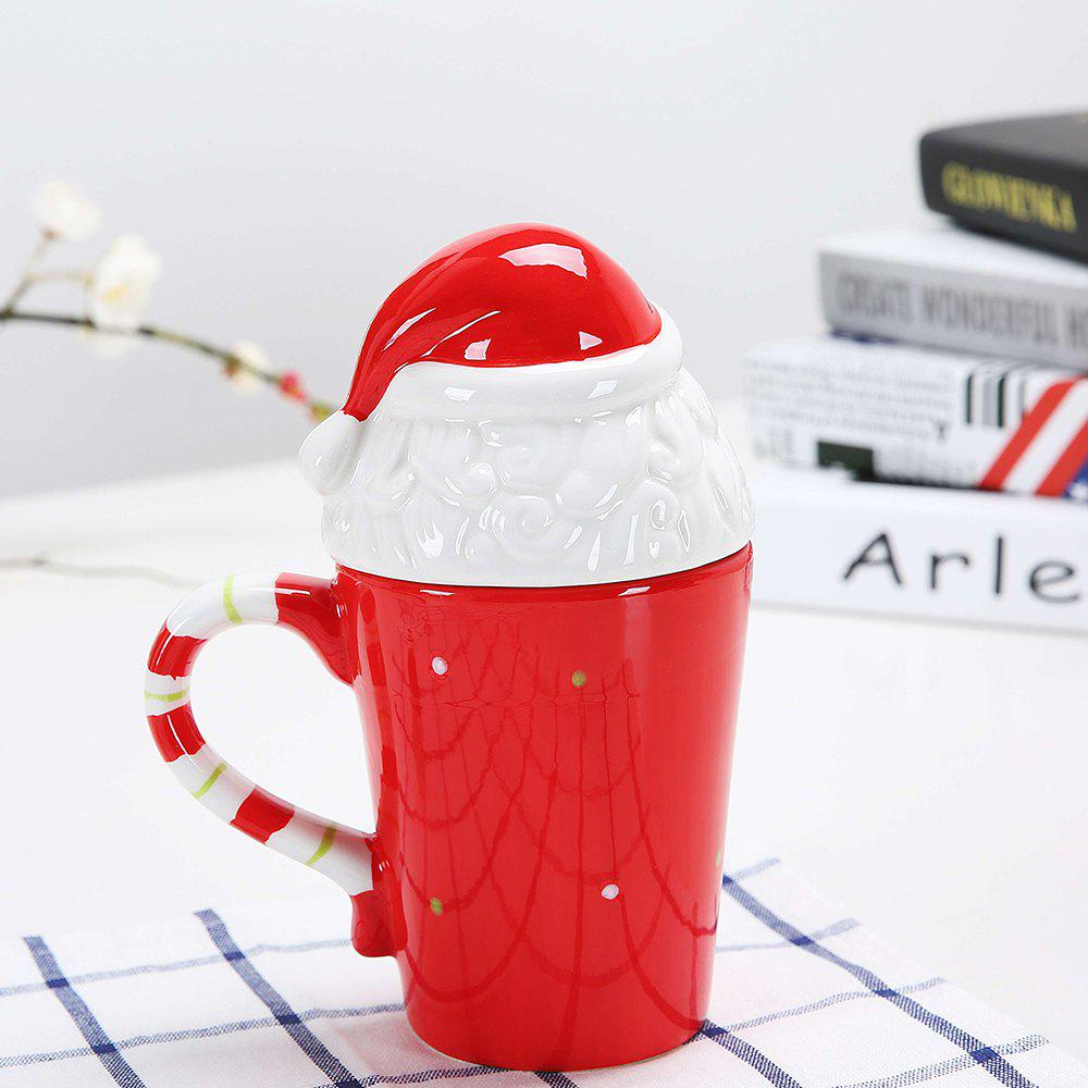 Tasse de Noël Cartoon animaux 400ML - Rouge