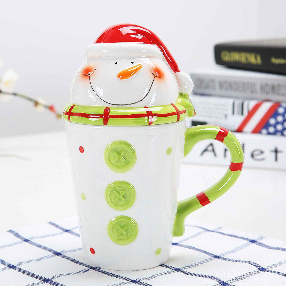 400ML Animal Cartoon Christmas Cup - LIGHT GREEN