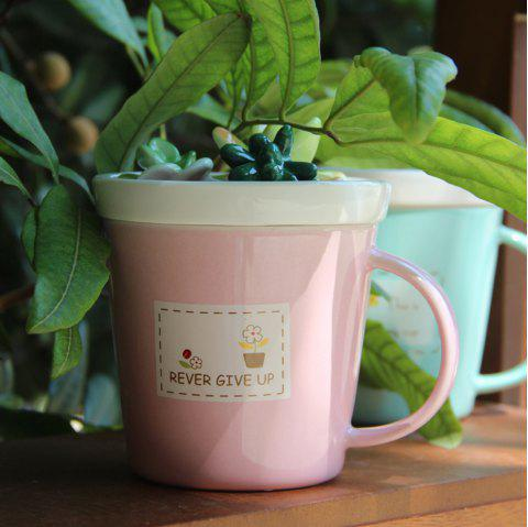 275ML Plants Ceramic Cup - PINK