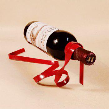 Creative Ribbon Suspension Wine Rack Home Decoration - RED RED