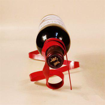 Creative Ribbon Suspension Wine Rack Home Decoration - RED