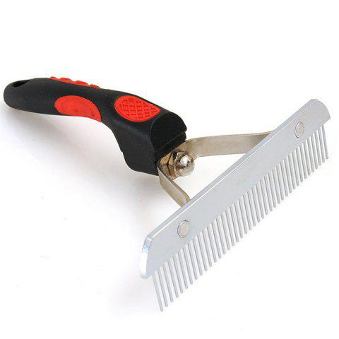 Pet Dog Cat Hair Grooming Trimmer Comb - RED