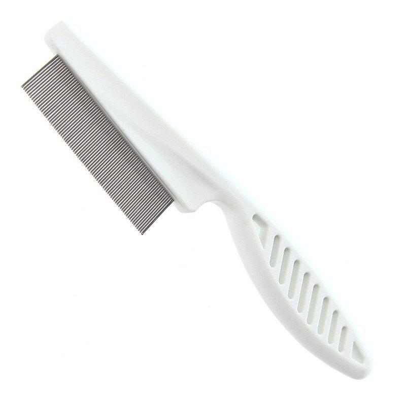 Pet Dog Cat Hair Grooming Trimmer Comb Brush - WHITE