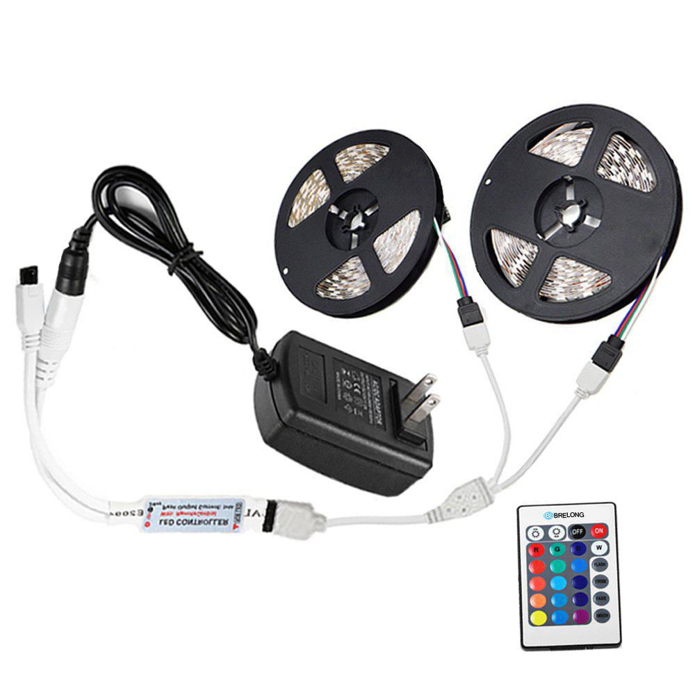 Brelong 10M  2835SMD RGB 600 LED Strip Light + Controller + Cable Connector + Adapter 3A EU / US 100 - 240V - RGB US
