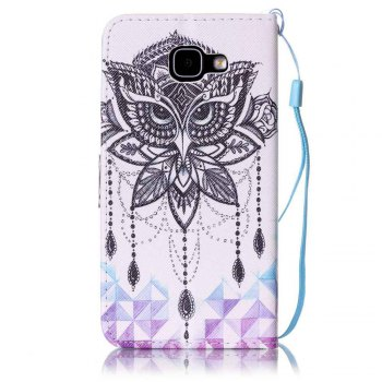 Painted PU Phone Case for Samsung Galaxy A5 -  WHITE