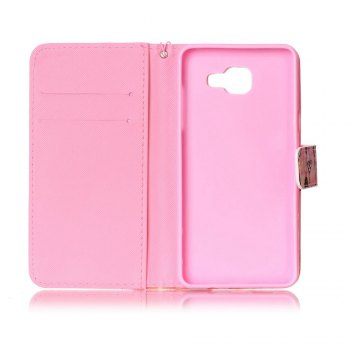 Painted PU Phone Case for Samsung Galaxy A5 - PINK