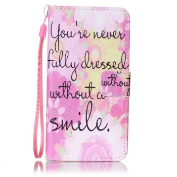 Painted PU Phone Case for Samsung Galaxy A5 - PINK PINK