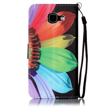Painted PU Phone Case for Samsung Galaxy A5 -  BLACK/RED