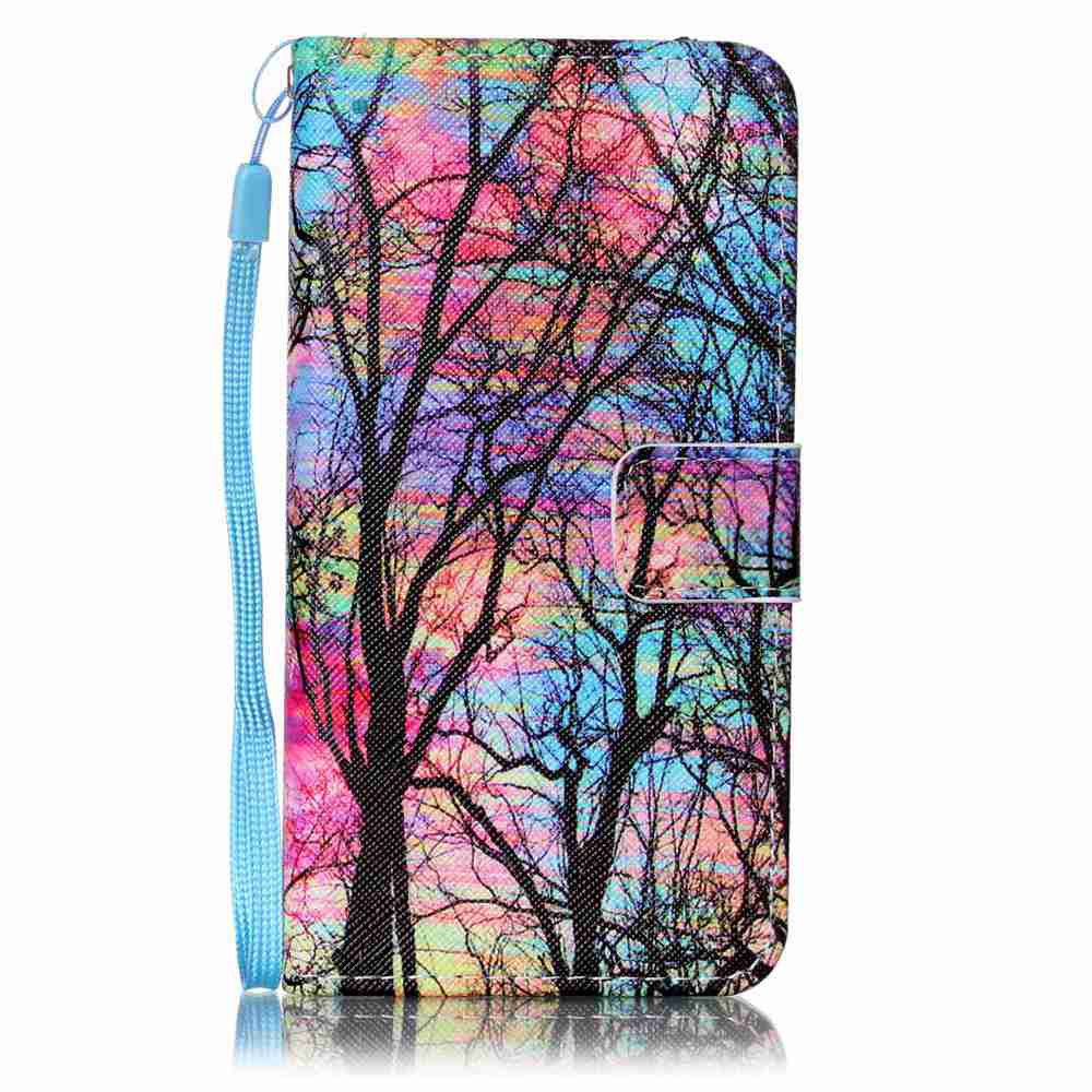 Painted PU Phone Case for Samsung Galaxy A5 - RED
