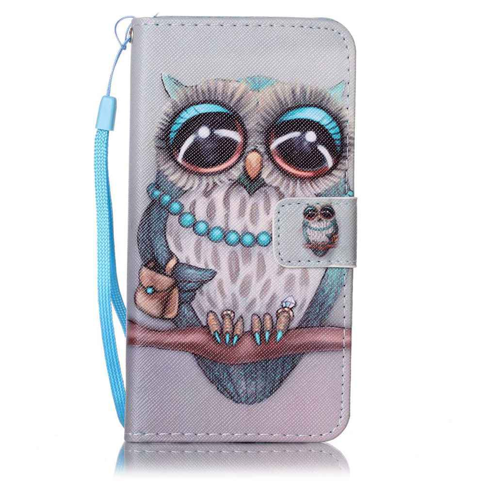 Painted PU Phone Case for Samsung Galaxy A5 - GRAY