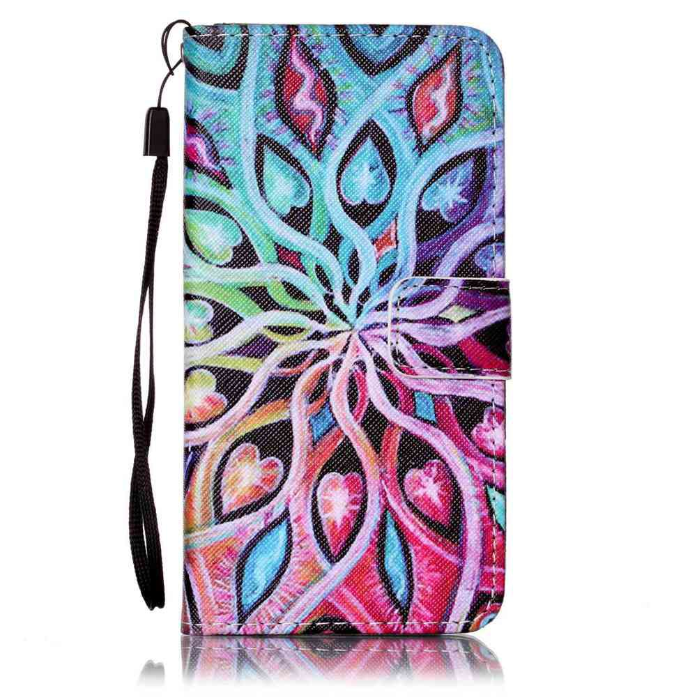 Painted PU Phone Case for Samsung Galaxy A5 - IVY