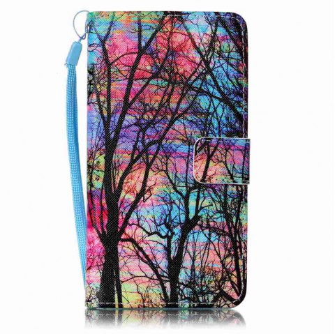 Painted PU Phone Case for Samsung Galaxy J7 - RED