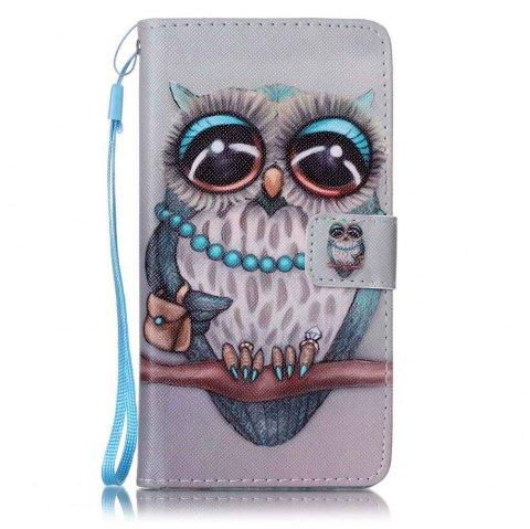 Painted PU Phone Case for Samsung Galaxy J7 - GRAY