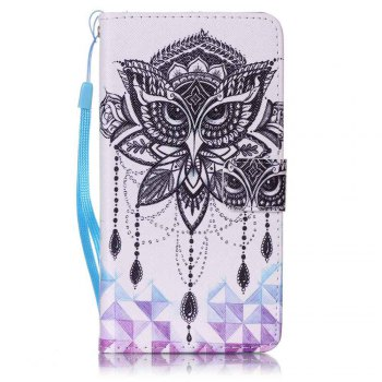 Painted PU Phone Case for Samsung Galaxy J7 - WHITE WHITE