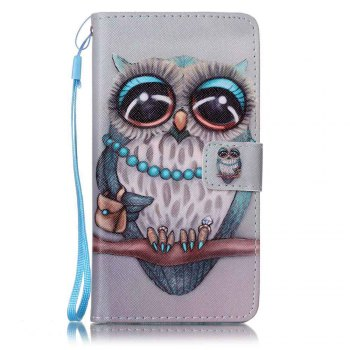 Painted PU Phone Case for Samsung Galaxy J7 - GRAY GRAY