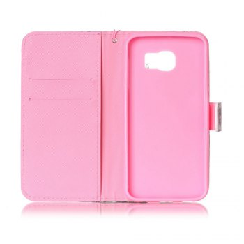 Painted PU Phone Case for Samsung Galaxy S6 - PINK