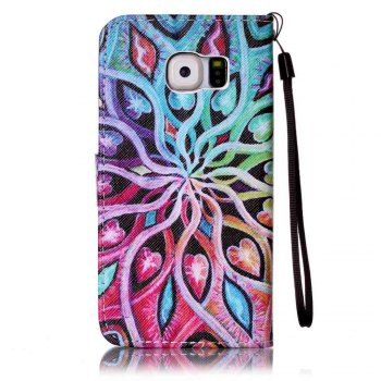 Painted PU Phone Case for Samsung Galaxy S6 - IVY
