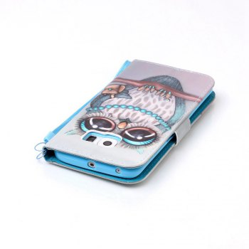 Painted PU Phone Case for Samsung Galaxy S6 Edge - GRAY