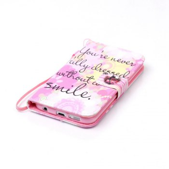 Painted PU Phone Case for Samsung Galaxy S6 Edge - PINK