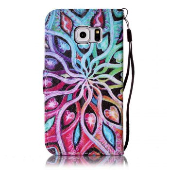 Painted PU Phone Case for Samsung Galaxy S6 Edge - IVY