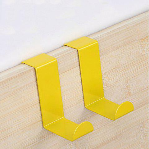 DIHE Cute Colorful S-hooks for Kitchen Wall Storage 2PCS - YELLOW