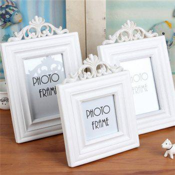 European Style Solid Color Wooden Decorative Home Photo Frame - WHITE SIZE L
