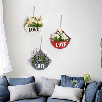 Wall Mounted Shelf Flower Living Room Bedroom Decoration 1pc -  GRAY