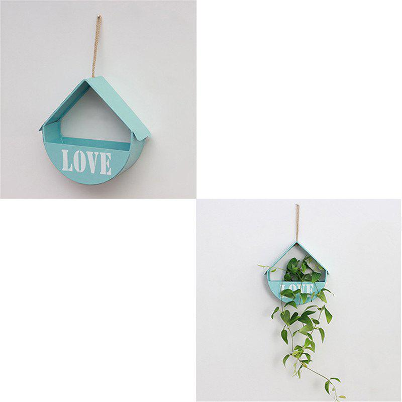 Wall Mounted Shelf Flower Living Room Bedroom Decoration 1pc - BLUE