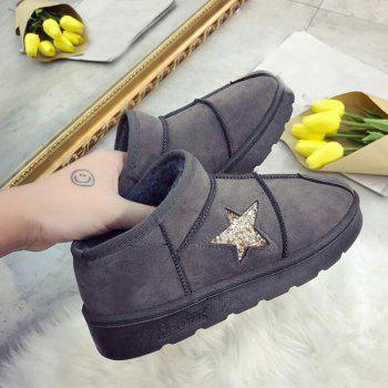 Korean Edition Winter Boots with Velvet - OYSTER OYSTER