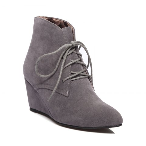 2019 Concise Women S Shoes Leatherette Fall Winter Fashion Wedge