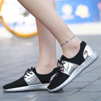 Fashion Couple Casual Flat Shoes - SILVER SILVER