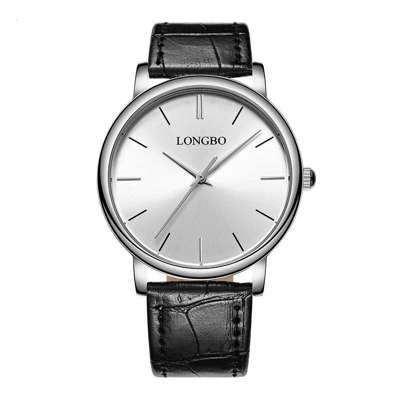 LONGBO 80321 Leisure Steel Band Couple Watch - SILVER/WHITE MALE