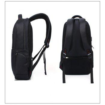 AUGUR Brand Backpacks USB Charging Laptop  Men Teenagers Travel Large Capacity Casual Fashion Style Back Bag -  BLACK