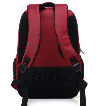 AUGUR Brand Backpacks USB Charging Laptop  Men Teenagers Travel Large Capacity Casual Fashion Style Back Bag - RED
