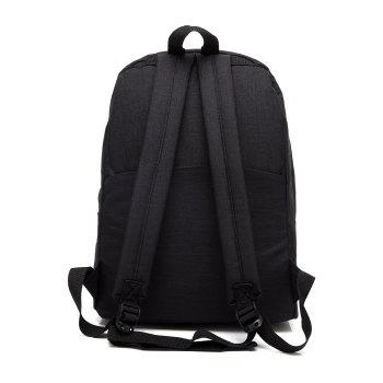 AUGUR New Backpacks Canvas Casual Teenager High Quality School Bag College for Teenage Girl -  BLACK