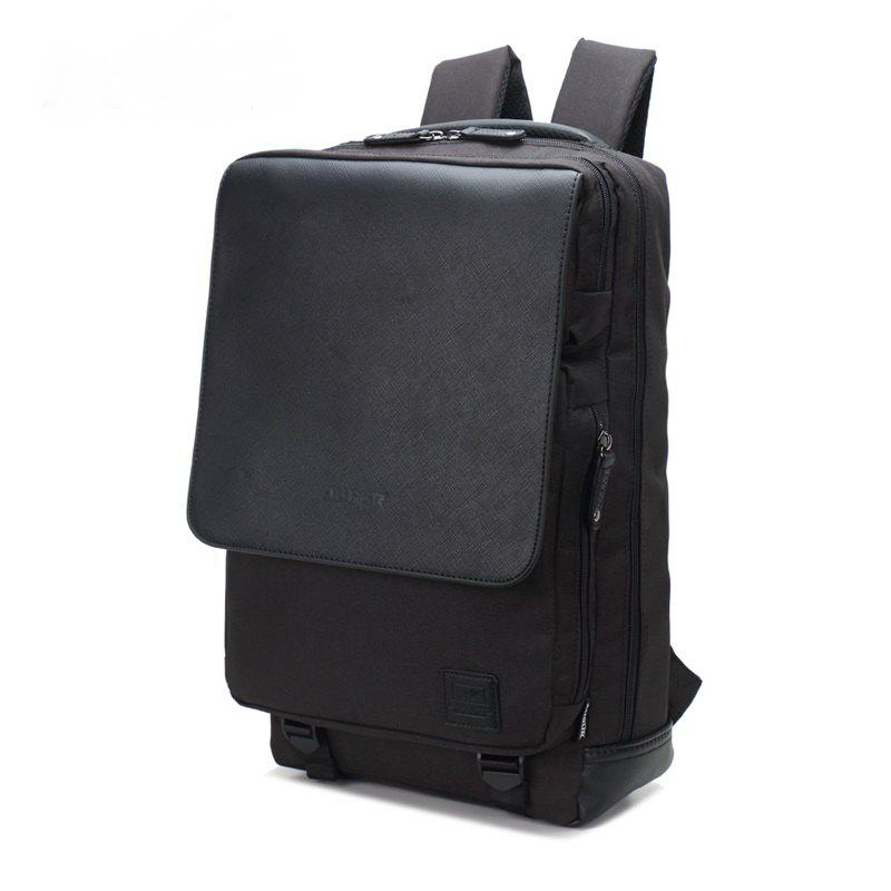 AUGUR Men Backpack Nylon Waterproof Casual Business Laptop Travel Men College Teenager School Bag - BLACK