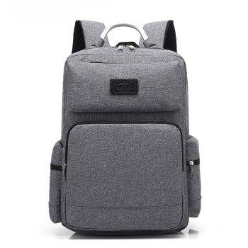 AUGUR 2017 Fashion Men Backpack Oxford High Quality Laptop Notebook School College Students Bag - GRAY GRAY