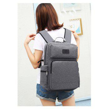 AUGUR 2017 Fashion Men Backpack Oxford High Quality Laptop Notebook School College Students Bag - GRAY