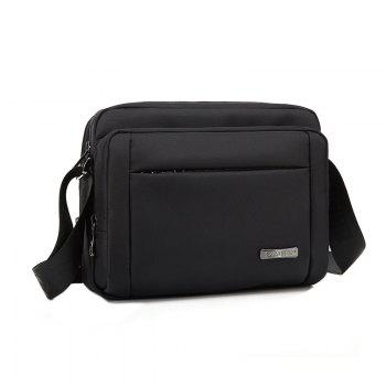AUGUR Men Briefcase Bags Waterproof Male Shoulder Bag Business Documents Case - BLACK