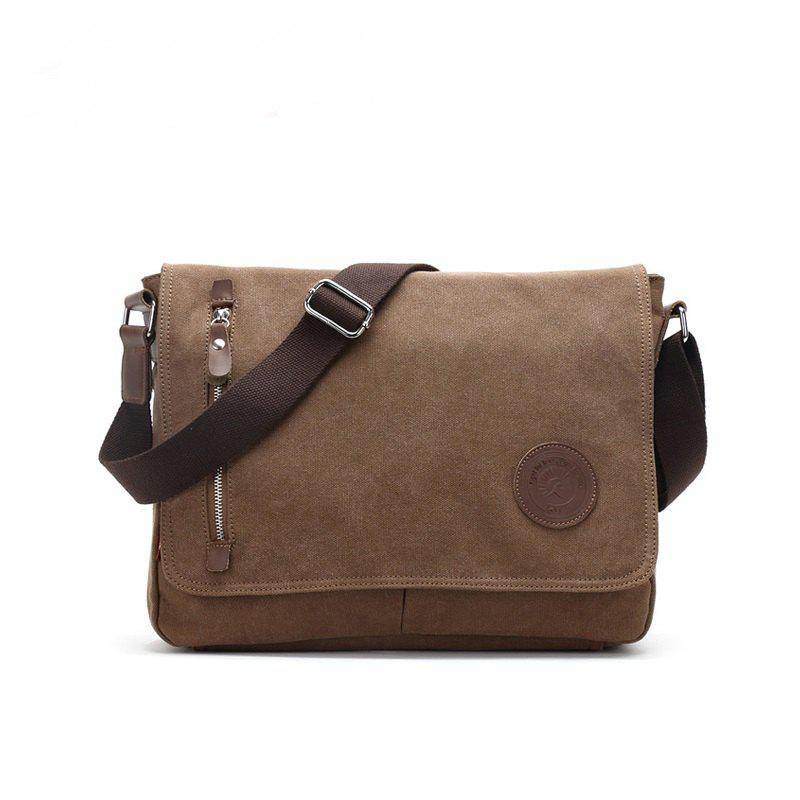 AUGUR 2017 New Canvas Casual Travel Bolas Masculina Messenger Crossbody  Shoulder Bag - COFFEE