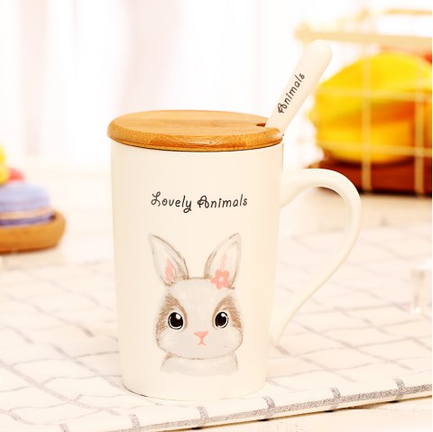 400ML Lustration Animal Cup - WHITE
