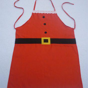 YEDUO Christmas Decoration Apron for Kitchen Dinner Party - RED ADULT