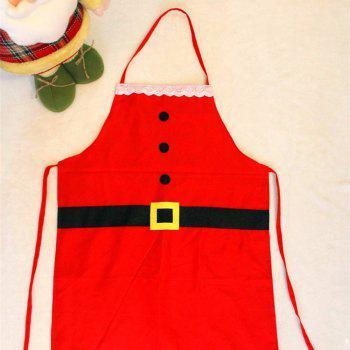 YEDUO Christmas Decoration Apron for Kitchen Dinner Party - RED RED