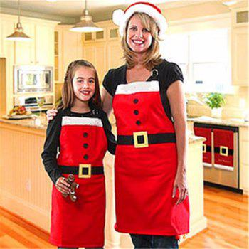 YEDUO Christmas Decoration Apron for Kitchen Dinner Party - RED KIDS