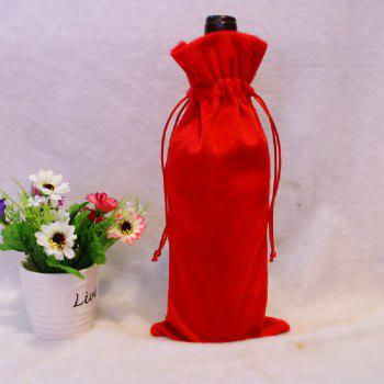 YEDUO Wine Bottle Set Cover Bag Christmas Dinner Table Decoration Home Party Decors Santa Claus - RED/WHITE